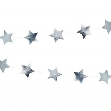 Silver Star Garland / Backdrop